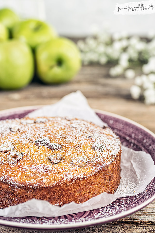 Apple Hazelnut Cake - Jennifer Vahlbruch