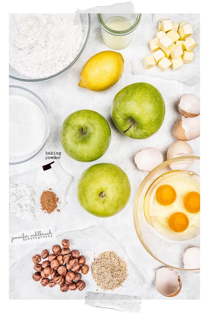 Apple Hazelnut Cake - Ingredients - Jennifer Vahlbruch