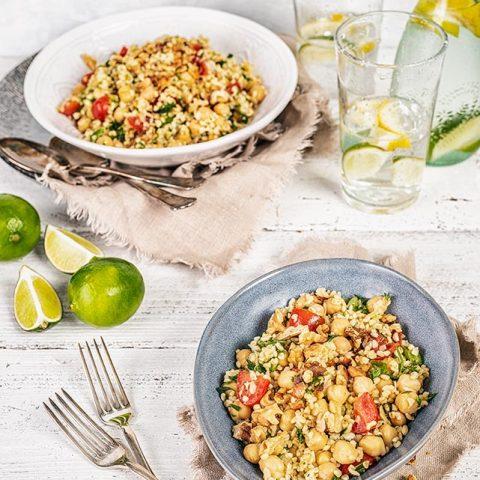 Chick Peas Bulgur Salad - Jennifer Vahlbruch
