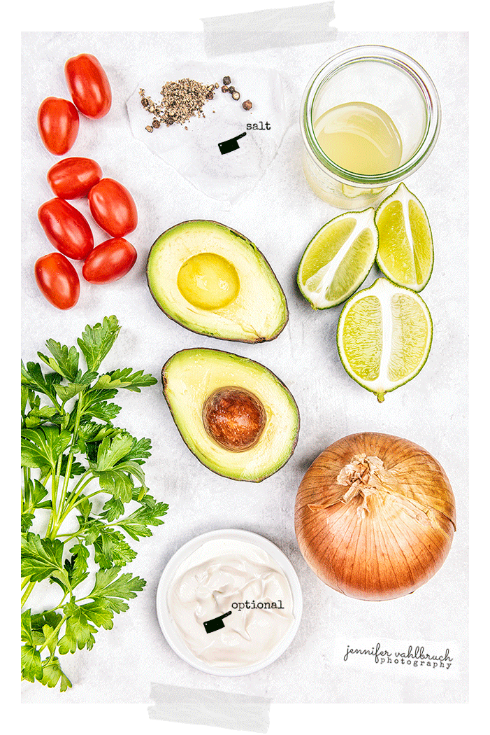 Guacamole - Ingredients - Jennifer Vahlbruch