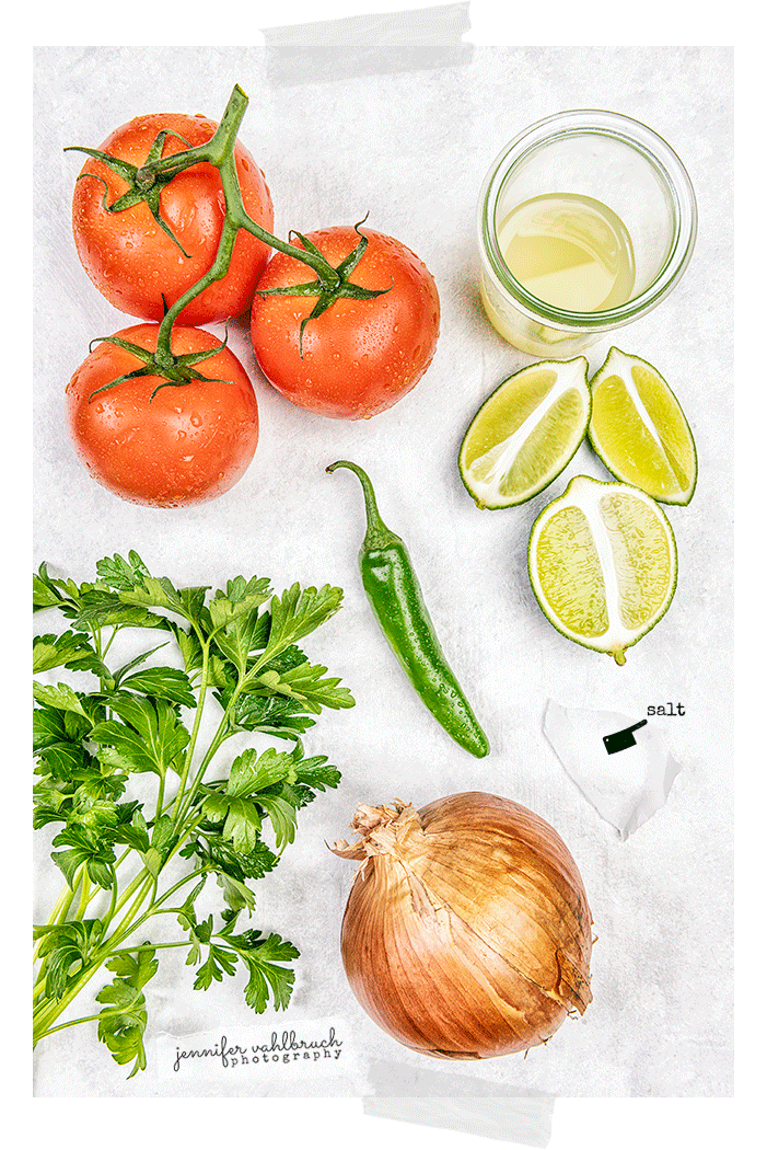 Picco De Gallo - Ingredients - Jennifer Vahlbruch