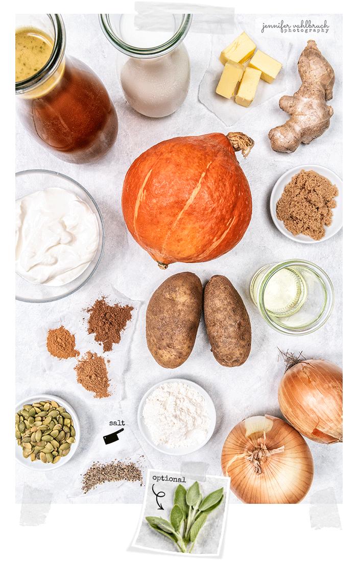 Squash Soup - Ingredients - Jennifer Vahlbruch