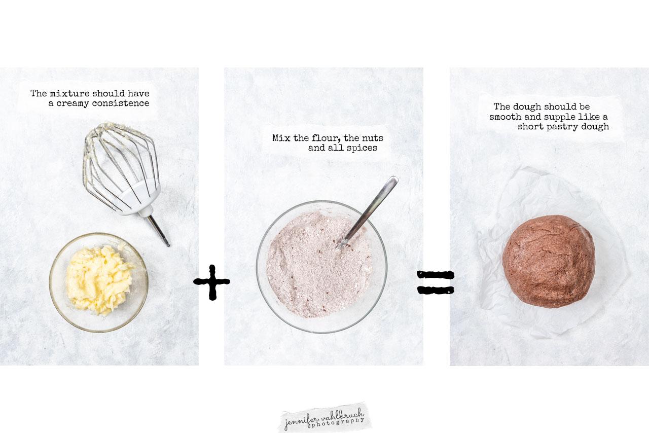 Linzer Cookies - Process dough - Jennifer Vahlbruch