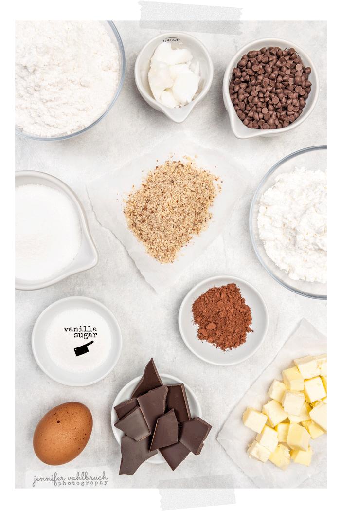 Chocolate Hearts Cookies - Inredients - Jennifer Vahlbruch
