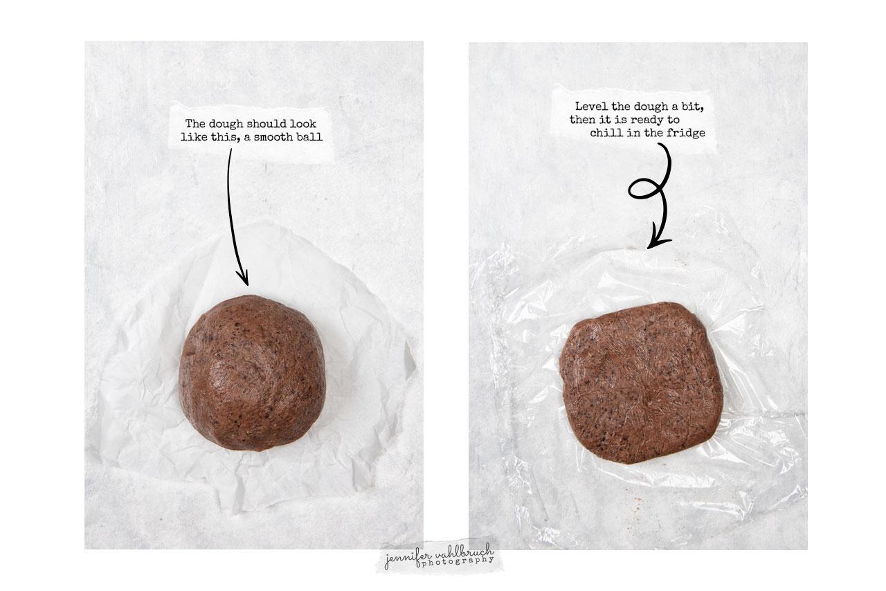 Chocolate Hearts Cookies - Process - Jennifer Vahlbruch