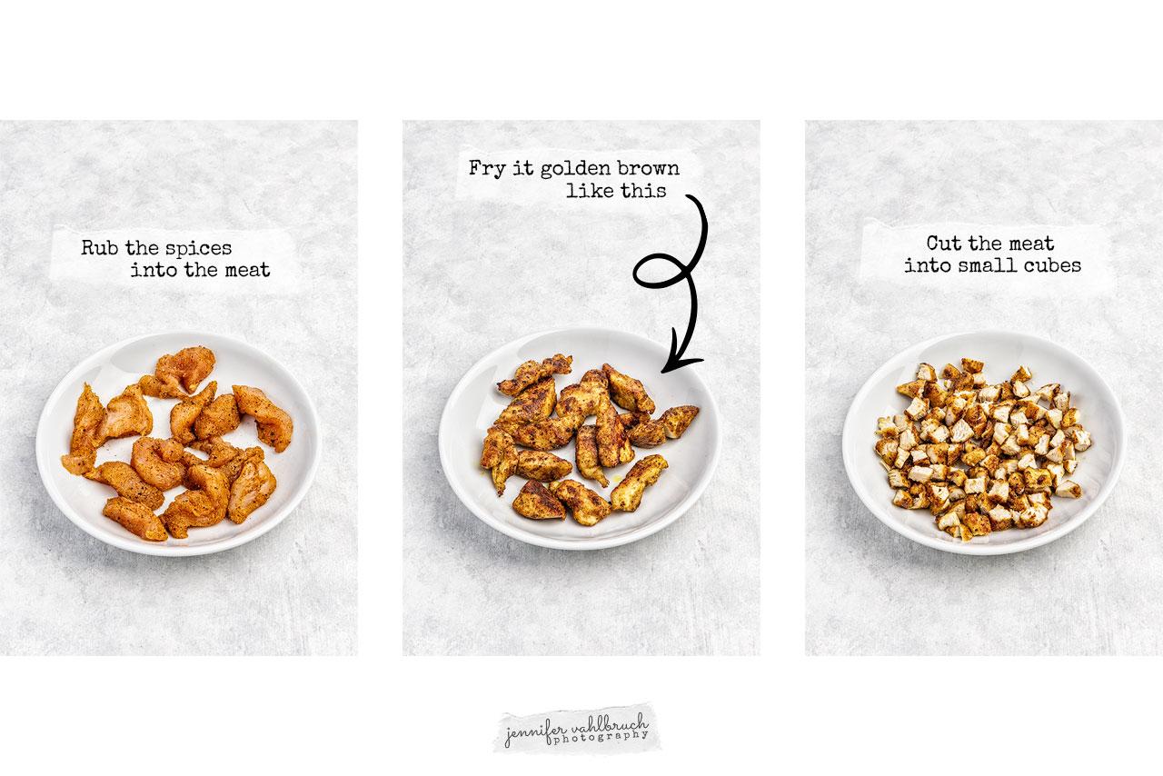 Chicken-Curry-Rice Salad - Process Meat - Jennifer Vahlbruch