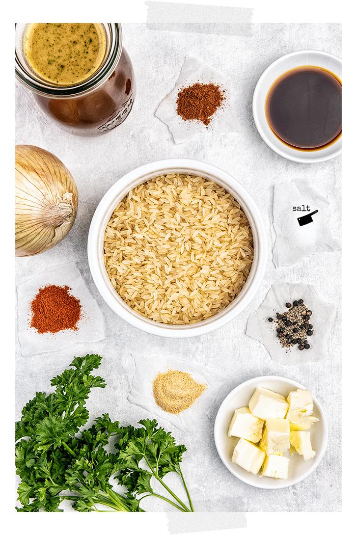 Seasoned Rice -Ingredients - Jennifer Vahlbruch